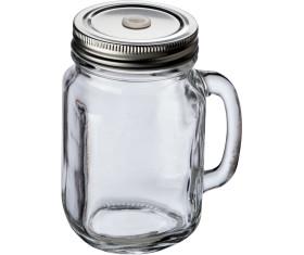 Glaskrug mit Metalldeckel, 450ml